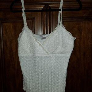White House Black Market Crochet Cami, like new